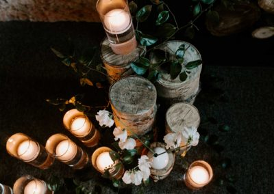 indoor wedding decor candles